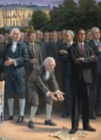 Liberals Crying Over This John McNaughton Cartoon That Shows Obama Trampling Constitution, Founding Fathers Crying